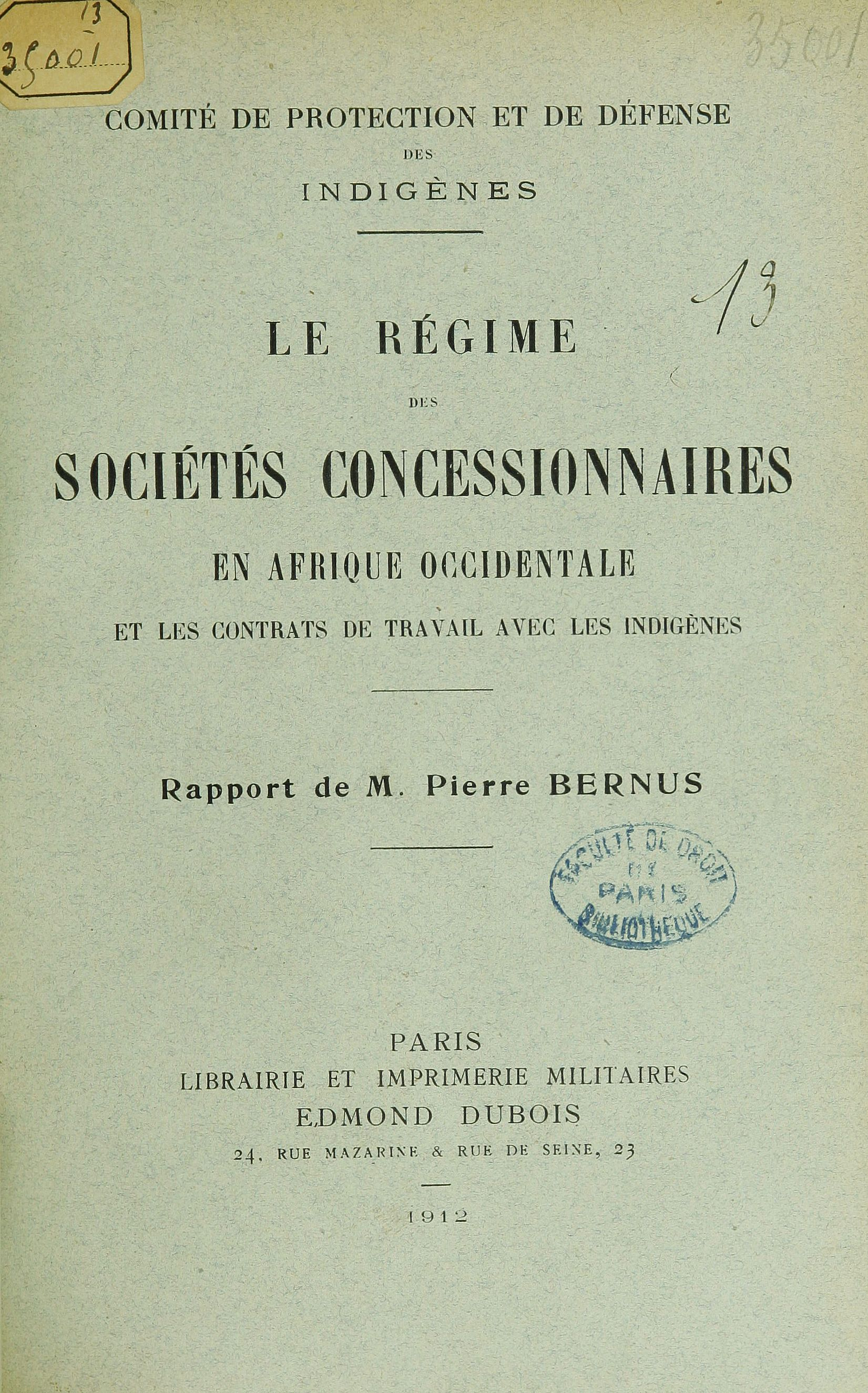 Galerie Publications du Comité de protection et de défense des