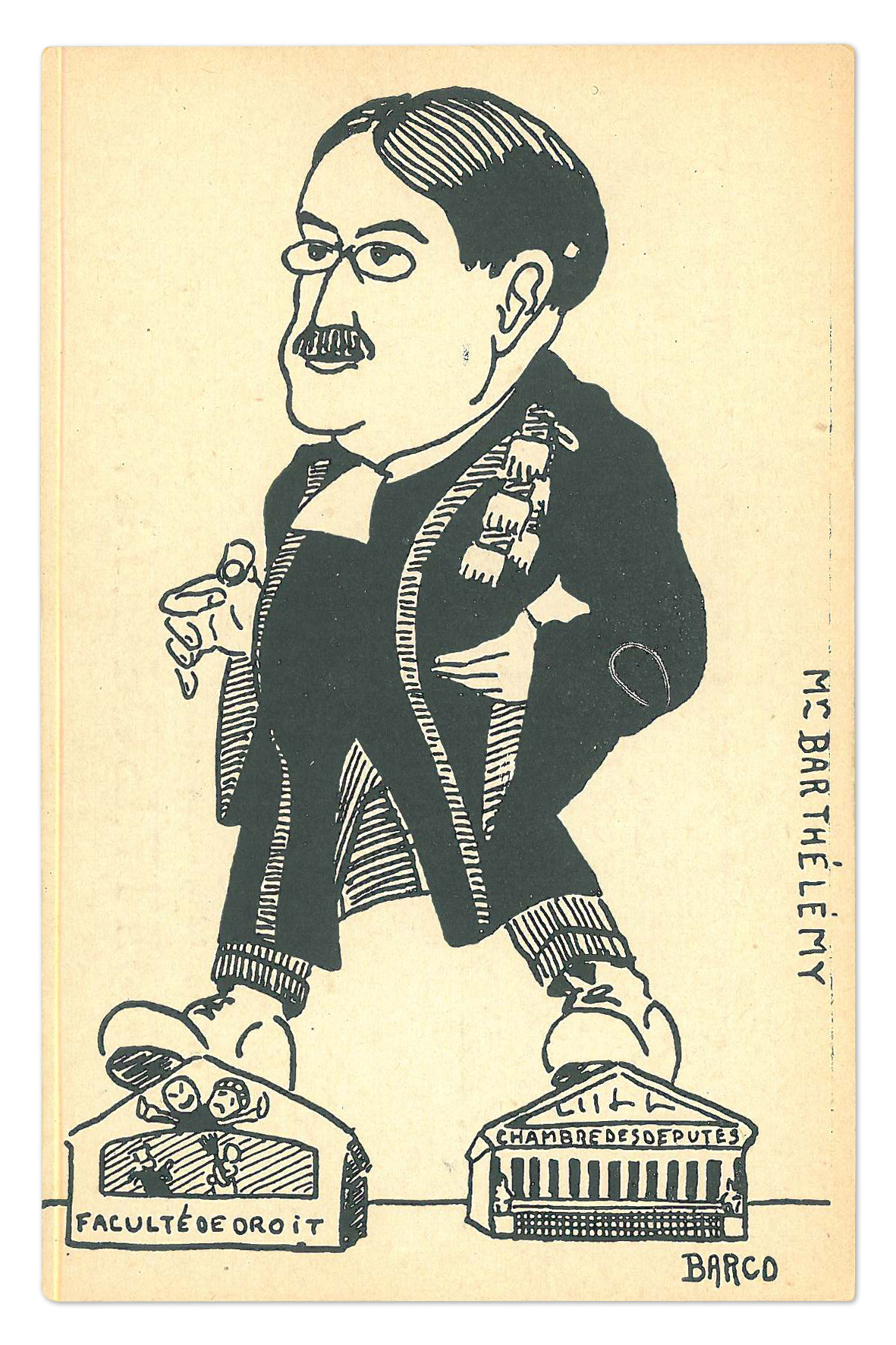 Caricature du professeur Barthélémy