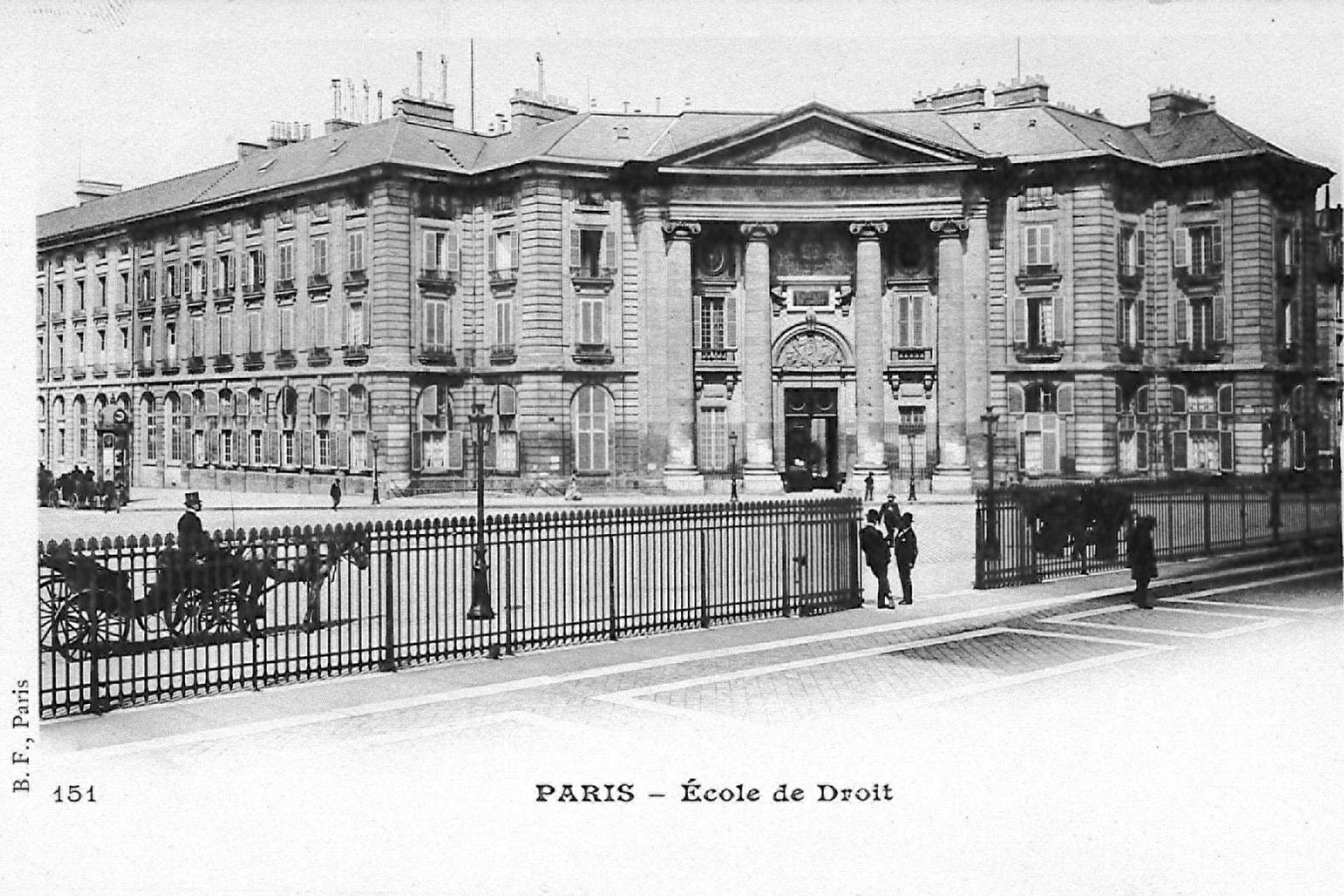 La Faculté de droit de Paris sous la III<sup>e</sup> République