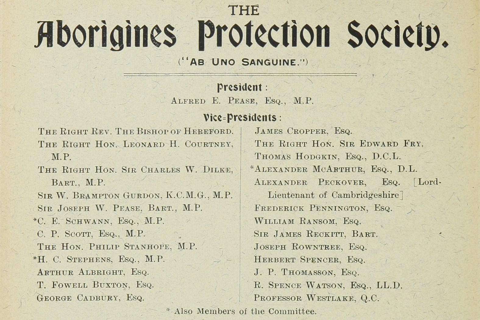 La protection des indigènes, une cause disputée